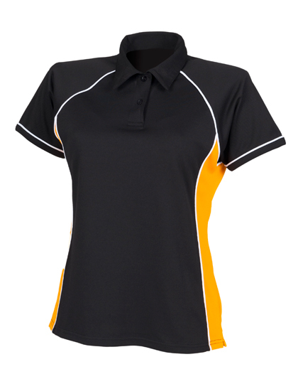 LSHOP Ladies Piped Performance Polo Black,Maroon,Navy,Purple,Red,Royal,White