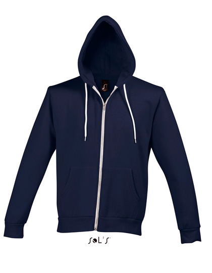 LSHOP Hooded Zipped Jacket Silver Abyss Blue,Black,Charcoal Grey Melange,French Navy,Purple,Red