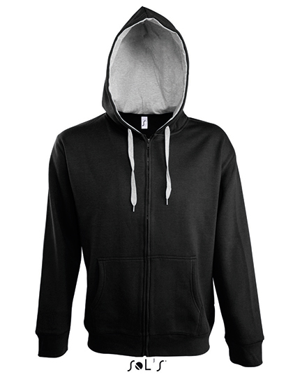 LSHOP Contrasted Zipped Hooded Jacket Soul Men Black,French Navy,Royal Blue,White