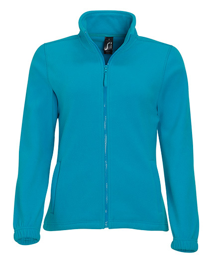 LSHOP Womens Fleecejacket North Aqua,Black,Burgundy,Charcoal Grey (Solid),Dark Chocolate,Dark Purple,Fir Green,Grey Melange,Lime,Navy,Neon Orange,Neon Yellow,Orange,Red,Rope,Royal Blue