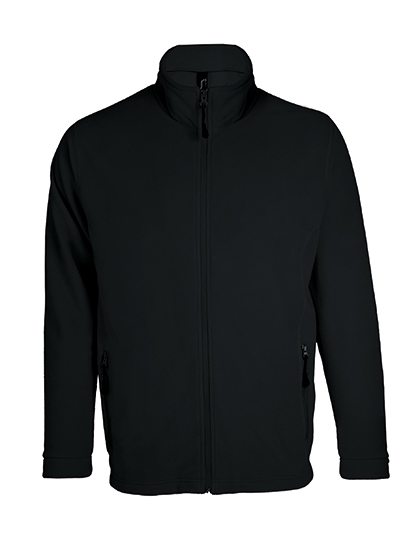 LSHOP Micro Fleece Zipped Jacket Nova Men Black,Charcoal Grey (Solid),Navy,Neon Green,Red,Slate Blue