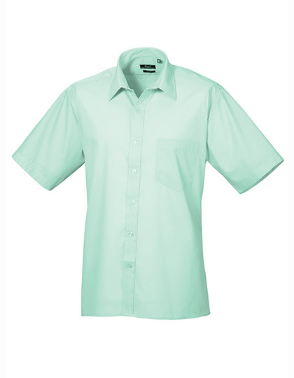 LSHOP Poplin Short Sleeve Shirt (Herrenhemd/Kurzarm) Aqua,Aubergine,Black,Bottle,Brown,Burgundy,Dark Grey,Emerald,Hot Pink,Khaki,Light Blue,Lilac,Lime,Mid Blue,Mocha,Natural,Navy,Orange,Pink,Purple,Red,Rich Violet,Royal,Sapphire,Silver,Steel,Strawberry Red,Sunflower,Turquoise,White